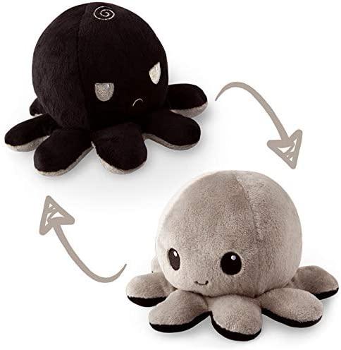 Reversible Octopus Mini Plush: Black and Gray