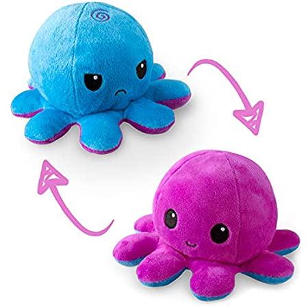 Reversible Octopus Mini Plush: Purple and Blue