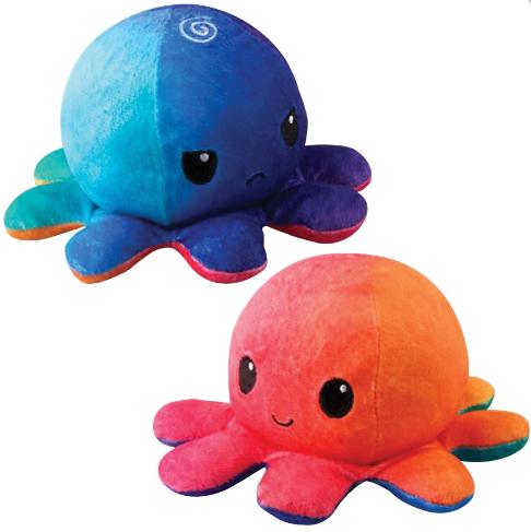 Reversible Octopus Plushie: Sunset/Mermaid